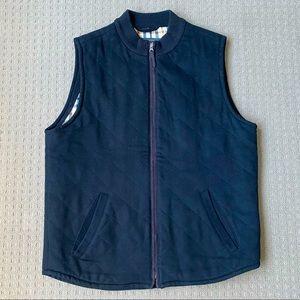 Sportscraft Men Black Full Zip Wool Blend Vest S/M